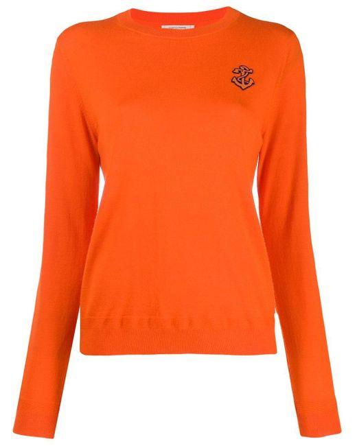 Chinti & Parker Anchor セーター Orange