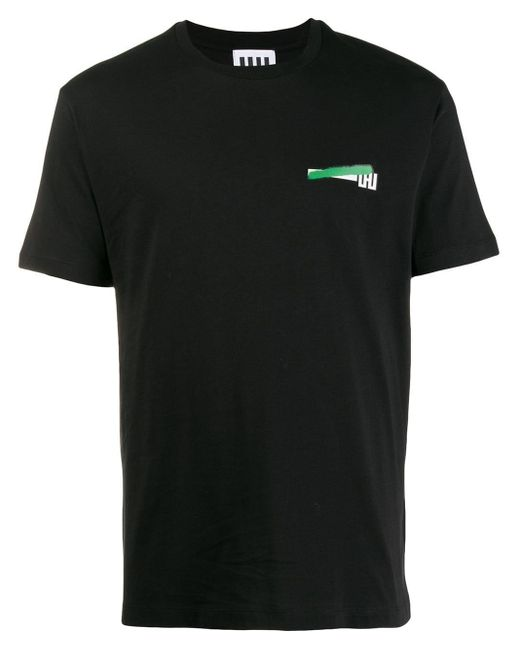 メンズ Les Hommes ロゴ Tシャツ Black