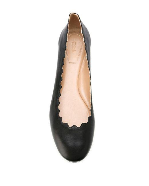 Chloé Brown Lauren Ballerina Flats