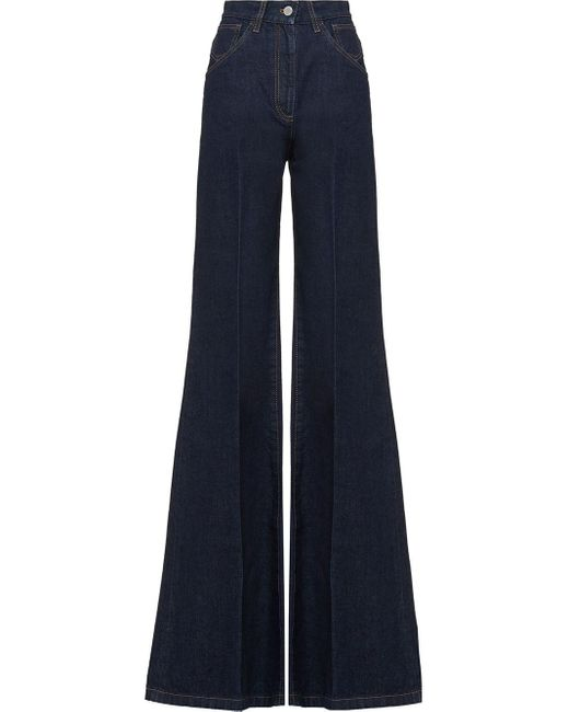 Prada High-waisted Flared Jeans Blue