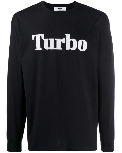 メンズ MSGM Turbo スウェットシャツ Black