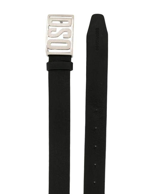 メンズ DSquared² ロゴバックル ベルト Black
