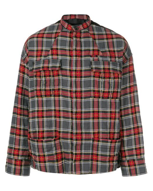 Haider Ackermann | Red Checked Shirt Jacket for Men | Lyst
