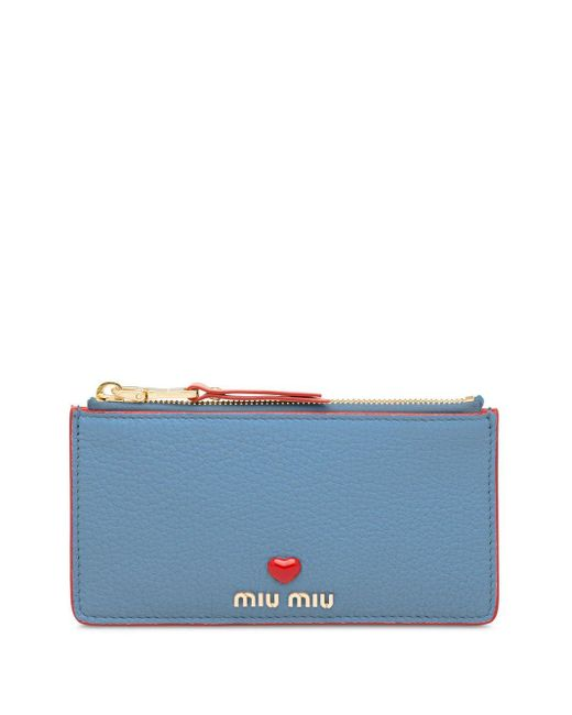 Miu Miu マドラス クラッチバッグ Blue