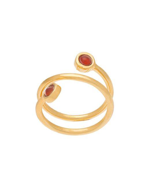 Lizzie Fortunato   Metallic Spiral Ring   Lyst