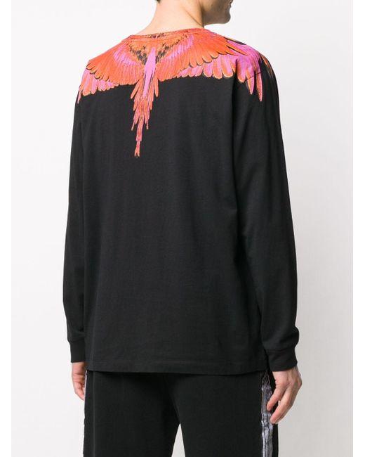 Marcelo Burlon Sweatshirt mit Flügel-Print in Black für Herren