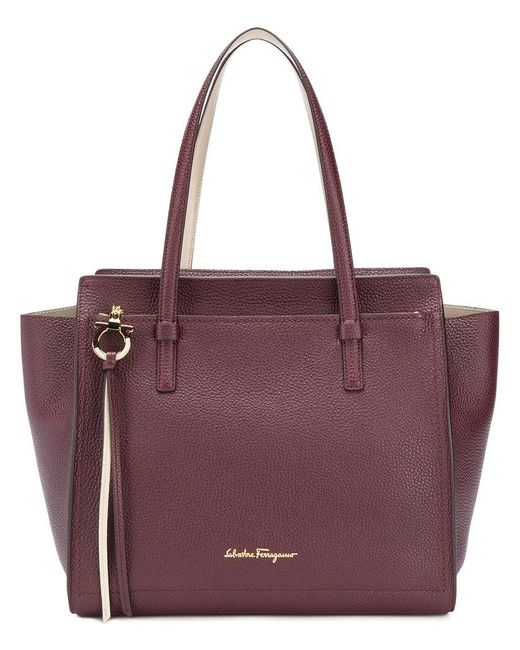 Ferragamo - Purple Large Tote Bag - Lyst