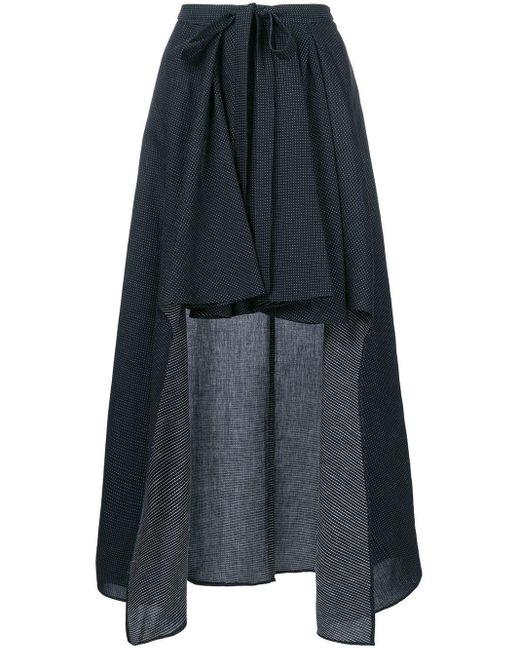 Chalayan ハイロー ドレープスカート Multicolor