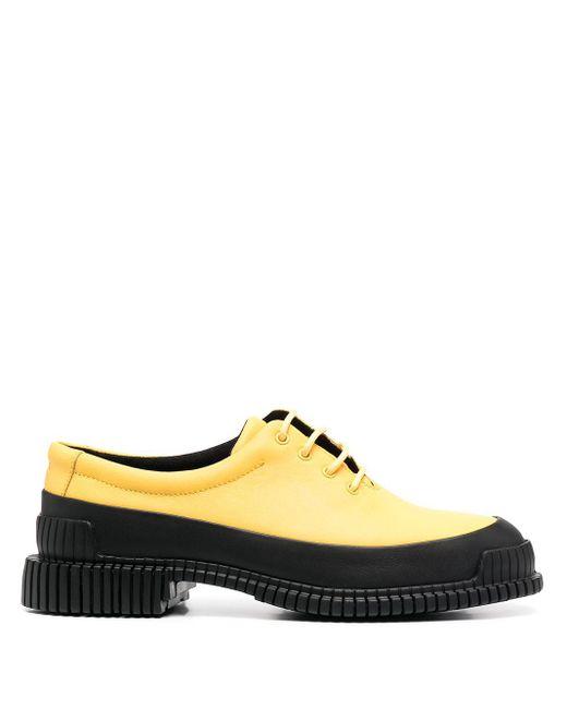 Camper パネル レースアップシューズ Yellow