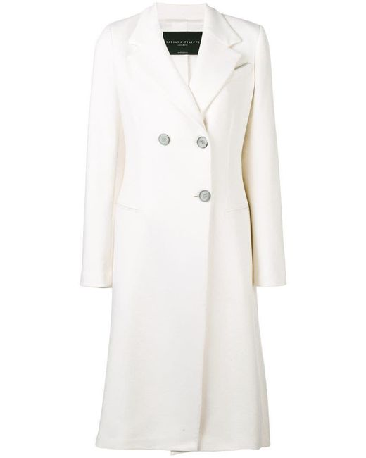 Fabiana Filippi - Multicolor Double-breasted Fitted Coat - Lyst