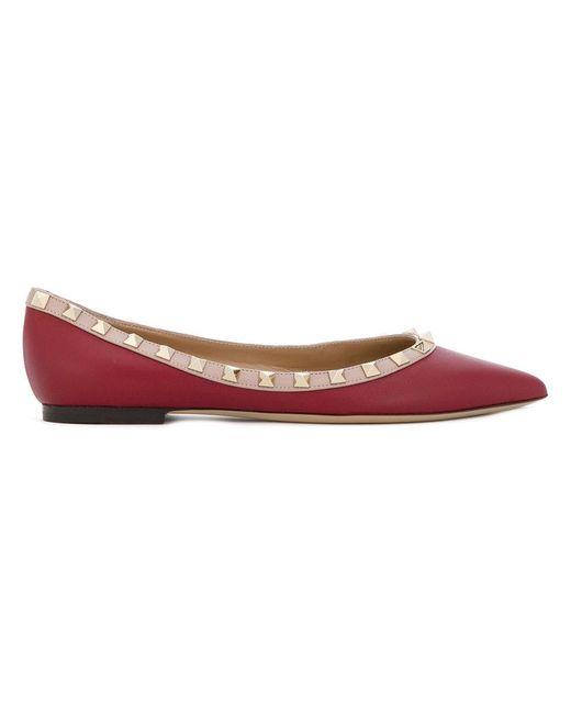 Valentino - Red Garavani Rockstud Ballerinas - Lyst