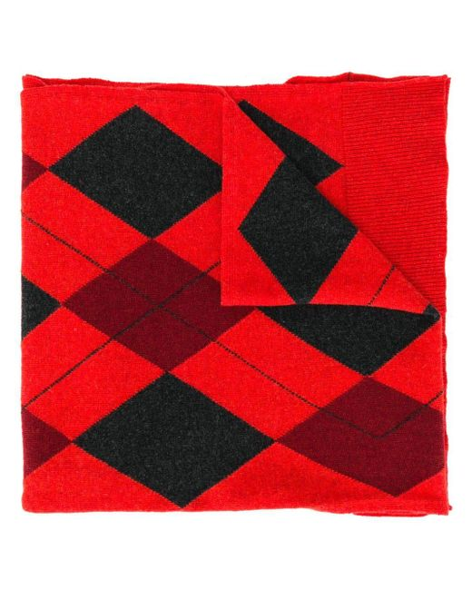 Pringle of Scotland Argyle Year Of The Pig スカーフ Red