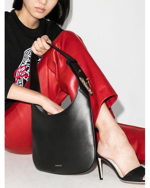 Versace Virtus サドル ショルダーバッグ S Black