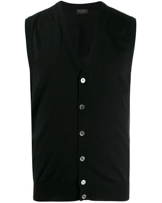 メンズ Dell'Oglio ニットベスト Black