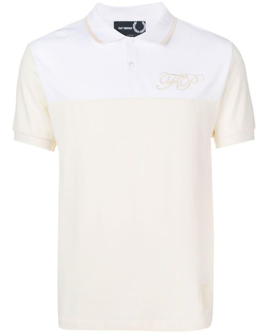 メンズ Fred Perry ロゴ ポロシャツ White