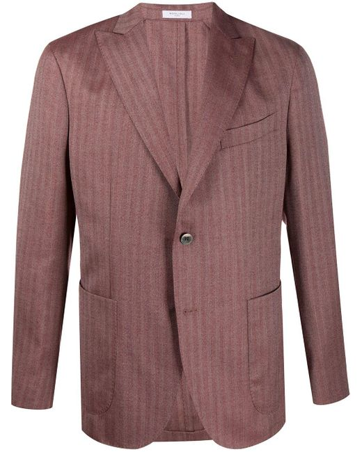 メンズ Boglioli シングルジャケット Multicolor