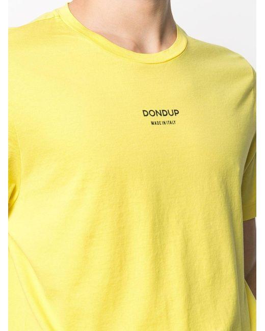 メンズ Dondup ロゴ Tシャツ Yellow