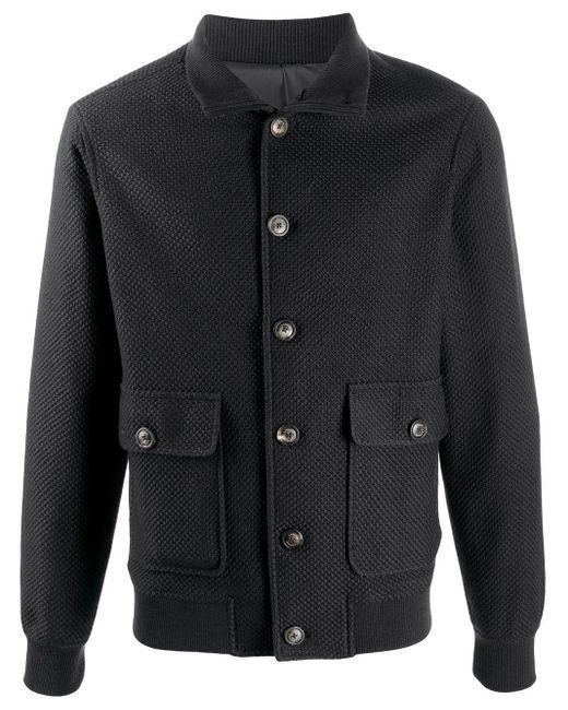 Однобортное Пальто Узкого Кроя Lardini для него, цвет: Black