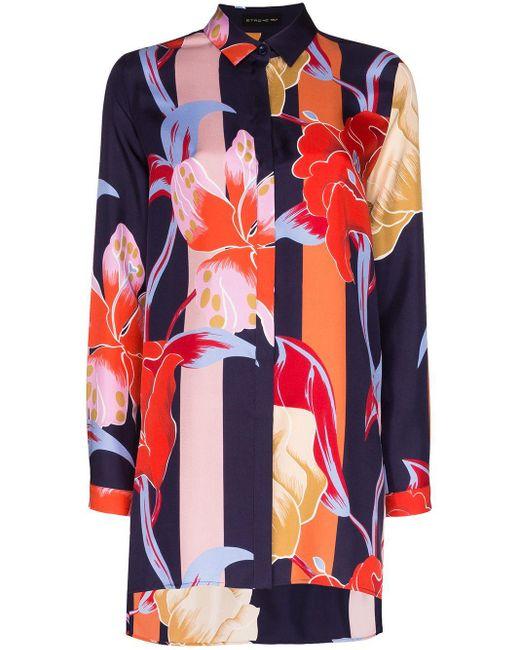 Etro フローラル オーバーサイズシャツ Multicolor