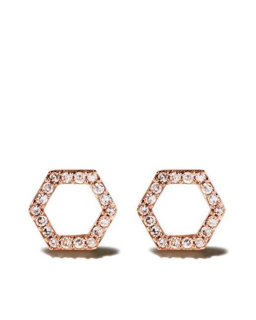 Astley Clarke Honeycomb ダイヤモンドピアス Multicolor