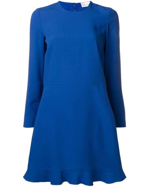 RED Valentino バックリボン ドレス Blue