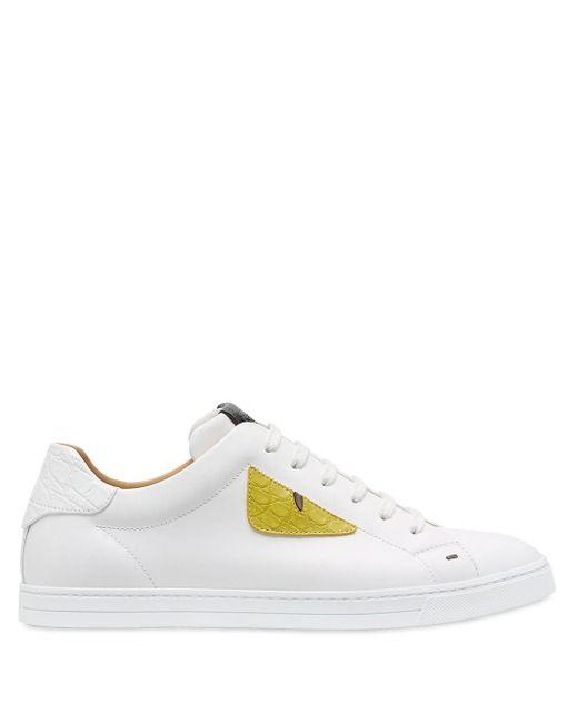 Fendi Sneakers im Bag Bugs-Design in White für Herren