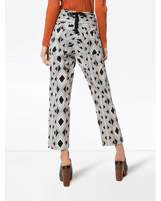Figue Portia Printed Trousers Black
