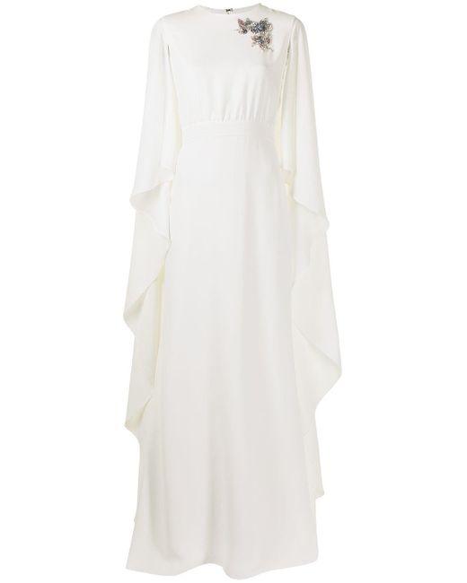 Carolina Herrera パッチディテール イブニングドレス White