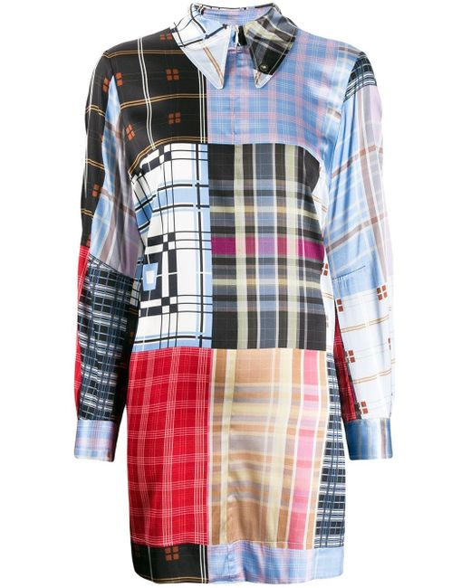 Ganni オーバーサイズ チェックシャツ Multicolor