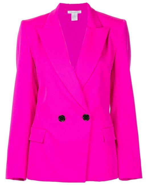 Oscar de la Renta - Pink Double Breasted Blazer - Lyst