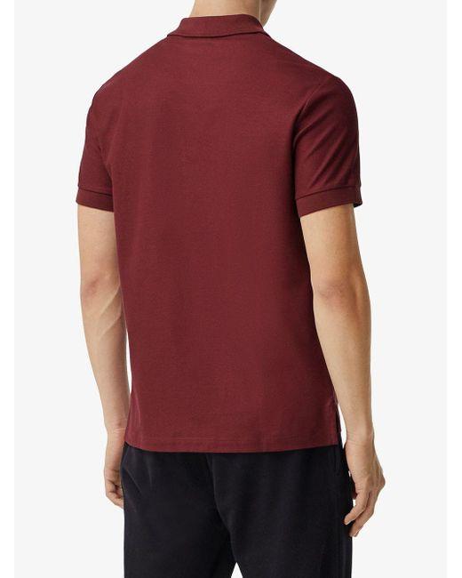 メンズ Burberry モノグラム ポロシャツ Red
