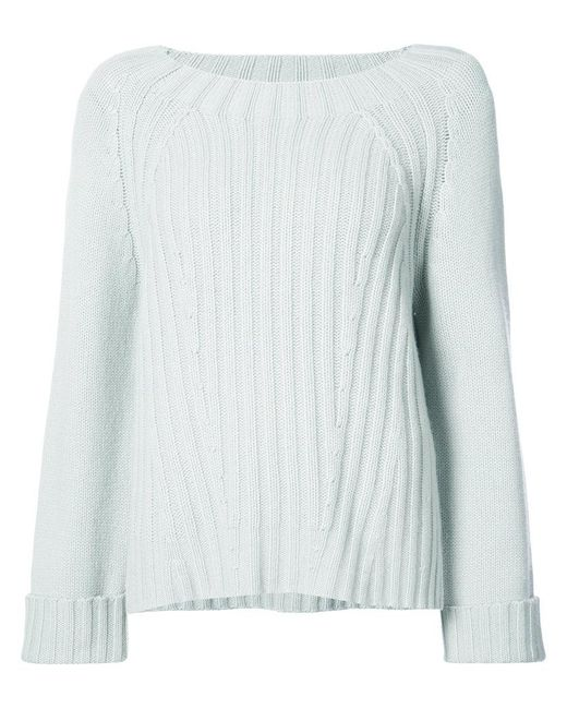 Vince - Blue Ribbed Sweater - Lyst