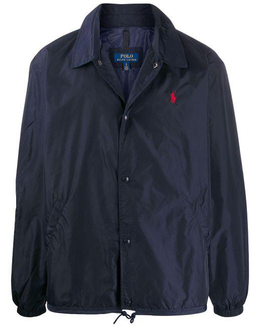 メンズ Polo Ralph Lauren ロゴ シャツジャケット Blue
