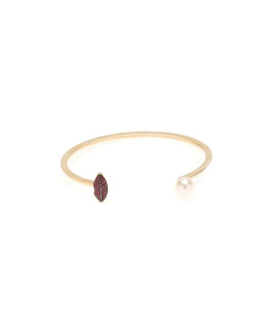Delfina Delettrez - Metallic 'lips Piercing' Ruby Bangle - Lyst