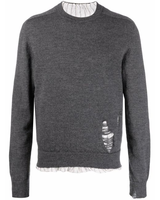 Maison Margiela Gray Anonymity Of The Lining Knit Jumper for men