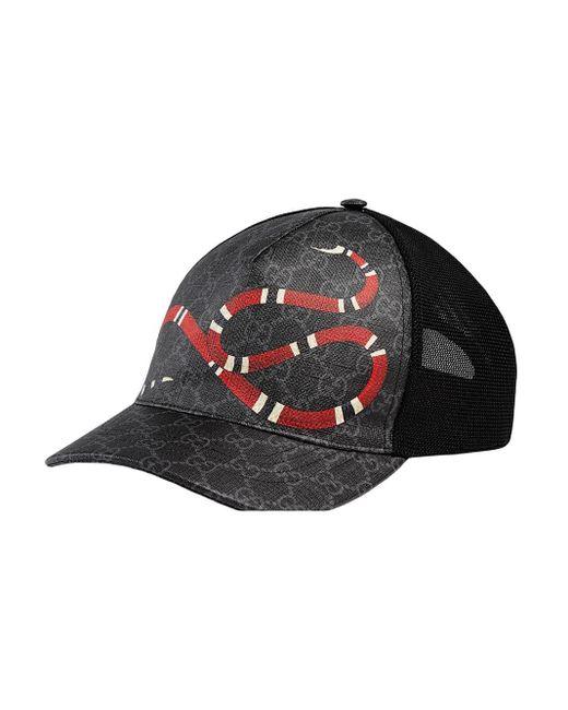メンズ Gucci グッチ公式キングスネーク プリント GGスプリーム ベースボールハットキングスネーク プリントcolor_descriptionundefined Black