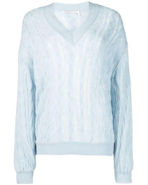 Agnona カシミア ケーブルニット セーター Blue
