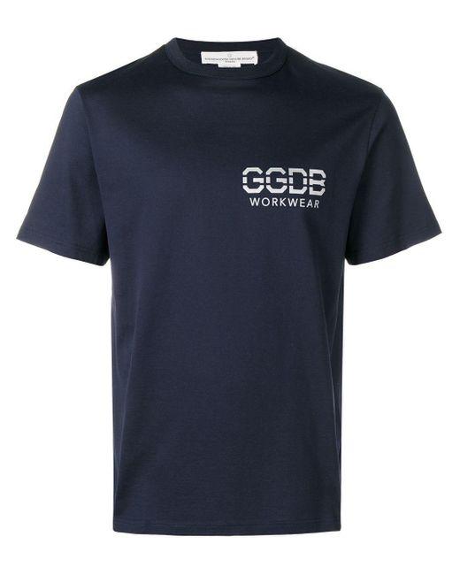 メンズ Golden Goose Deluxe Brand ロゴ Tシャツ Blue