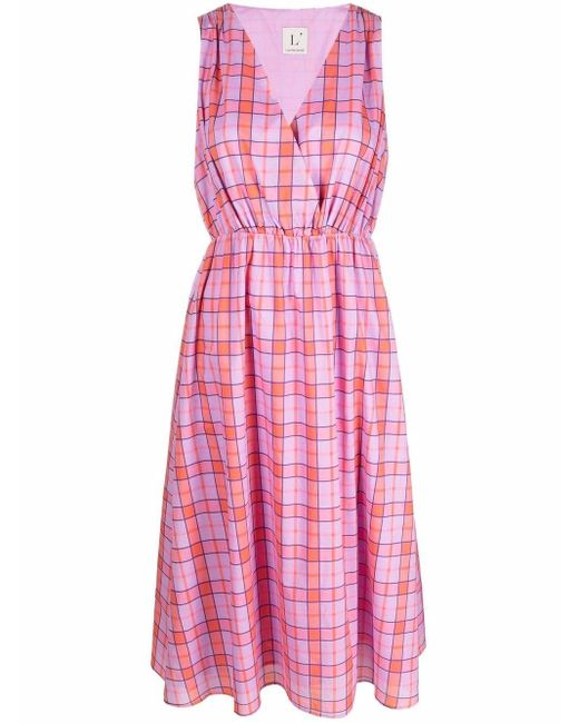L'Autre Chose Abito チェック ドレス Pink