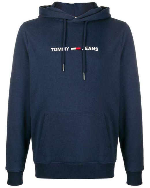 Tommy Hilfiger Blue Logo Hoodie for men