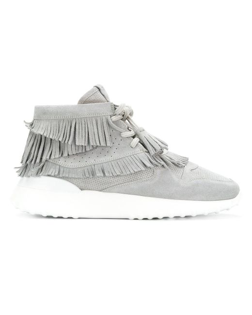 Tod's Gray Flatform Hi-top Sneakers