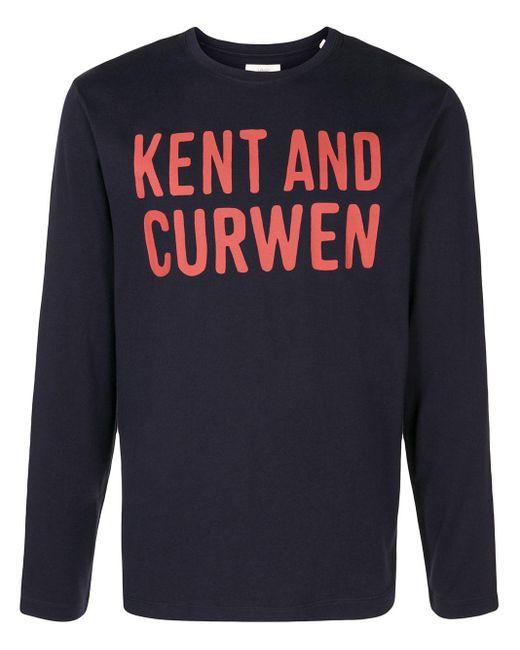 メンズ Kent & Curwen ロゴ ロングtシャツ Blue