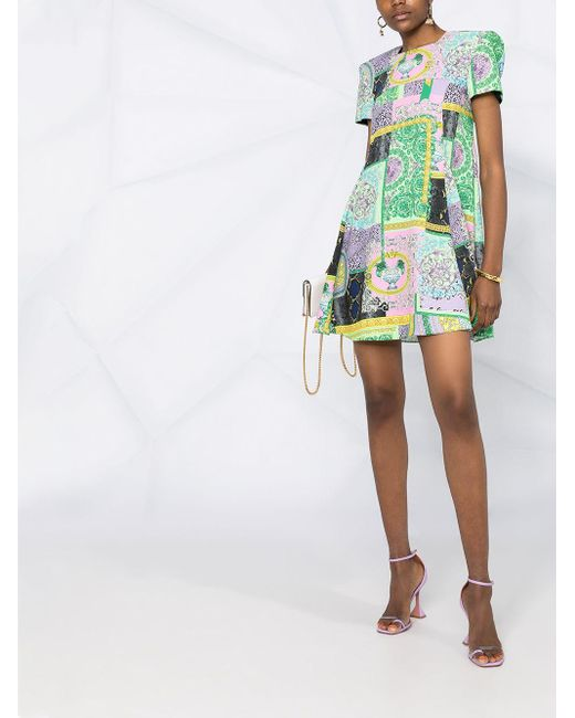 Versace プリント シフトドレス Green