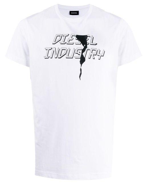 メンズ DIESEL T-diego-j25 Industry Tシャツ White