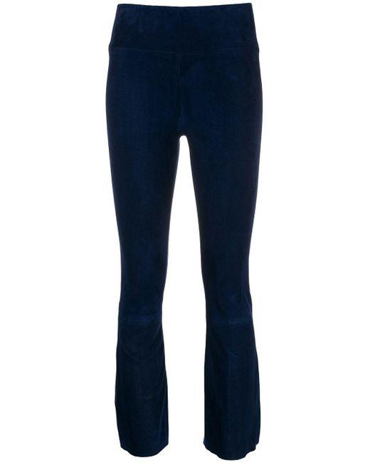 Pantalon crop en daim SPRWMN en coloris Blue