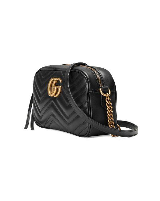 Gucci GG Marmont Kleine Schoudertas in het Black