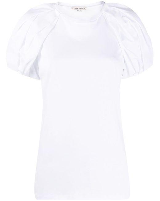Alexander McQueen パフスリーブ Tシャツ White