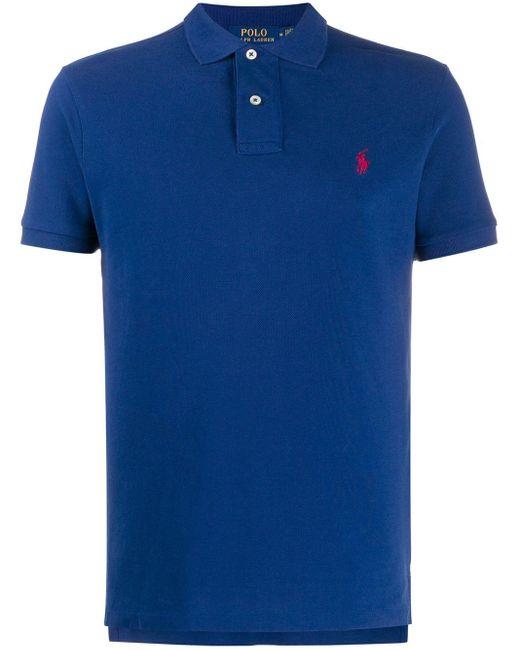 メンズ Polo Ralph Lauren ロゴ ポロシャツ Blue