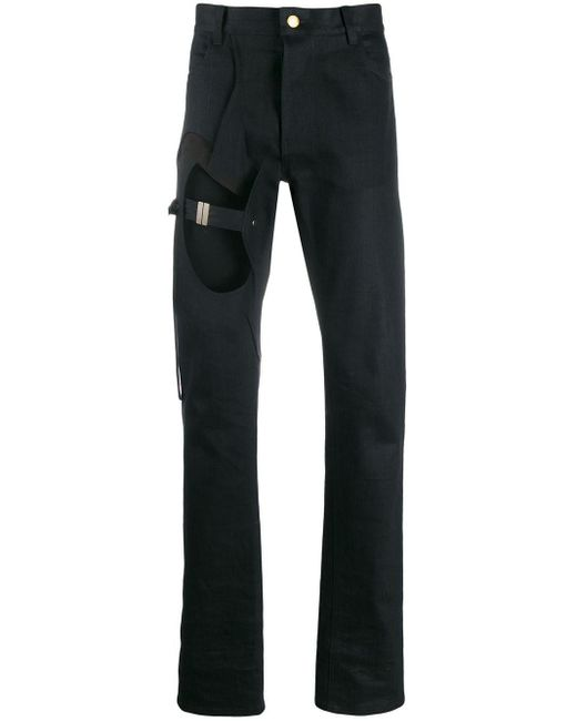 メンズ Zilver ストレートパンツ Black