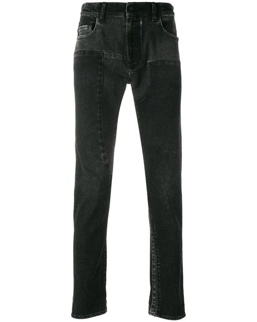 Pence | Black Stitch Detailed Jeans for Men | Lyst